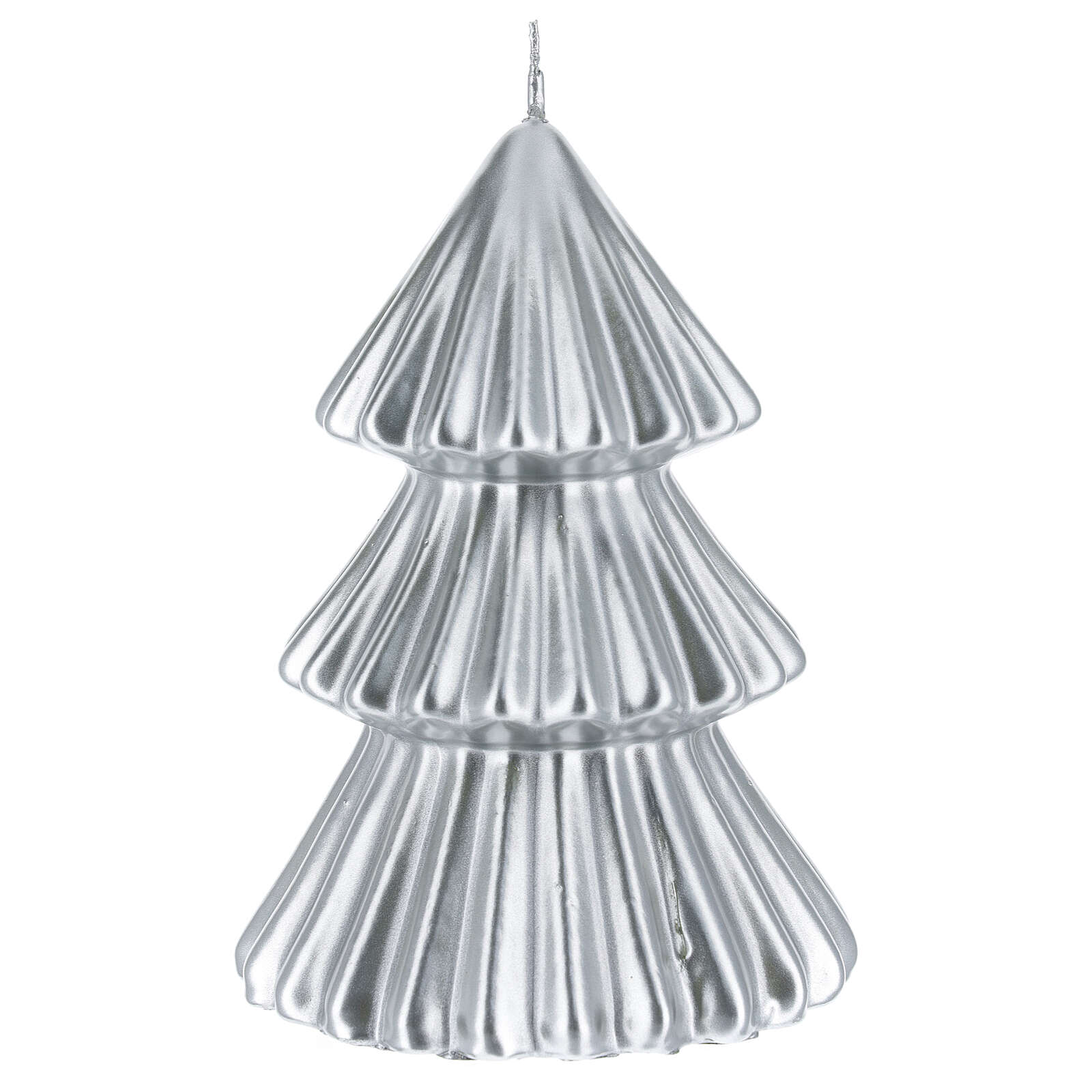 Silver Tokyo Christmas tree candle 7 in 3