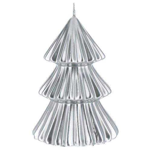 Silver Tokyo Christmas tree candle 7 in 2