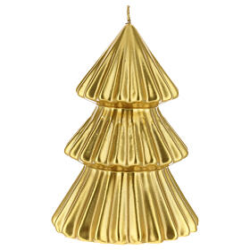 Golden Tokyo Christmas tree candle 7 in s1