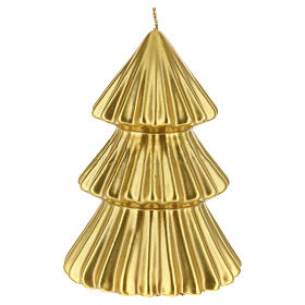 Golden Tokyo Christmas tree candle 7 in s2