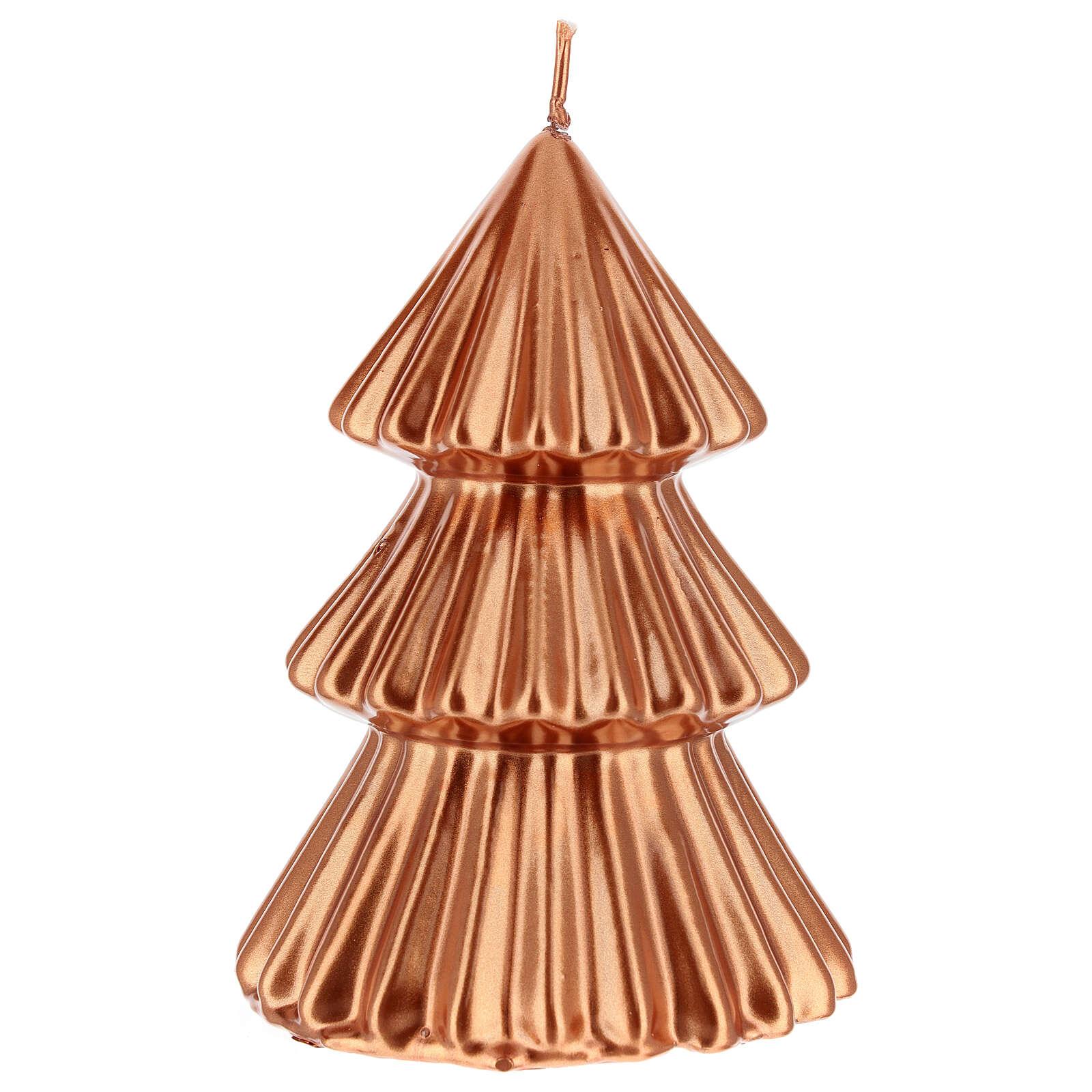 Vela de Natal árvore cor cobre modelo Tokyo 17 cm 3