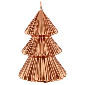 Vela de Natal árvore cor cobre modelo Tokyo 17 cm s1