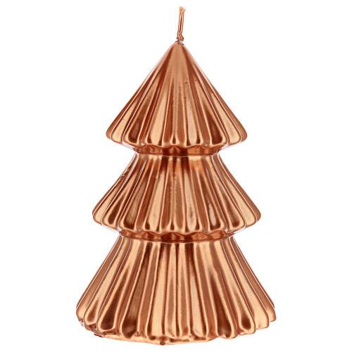 Vela de Natal árvore cor cobre modelo Tokyo 17 cm 2