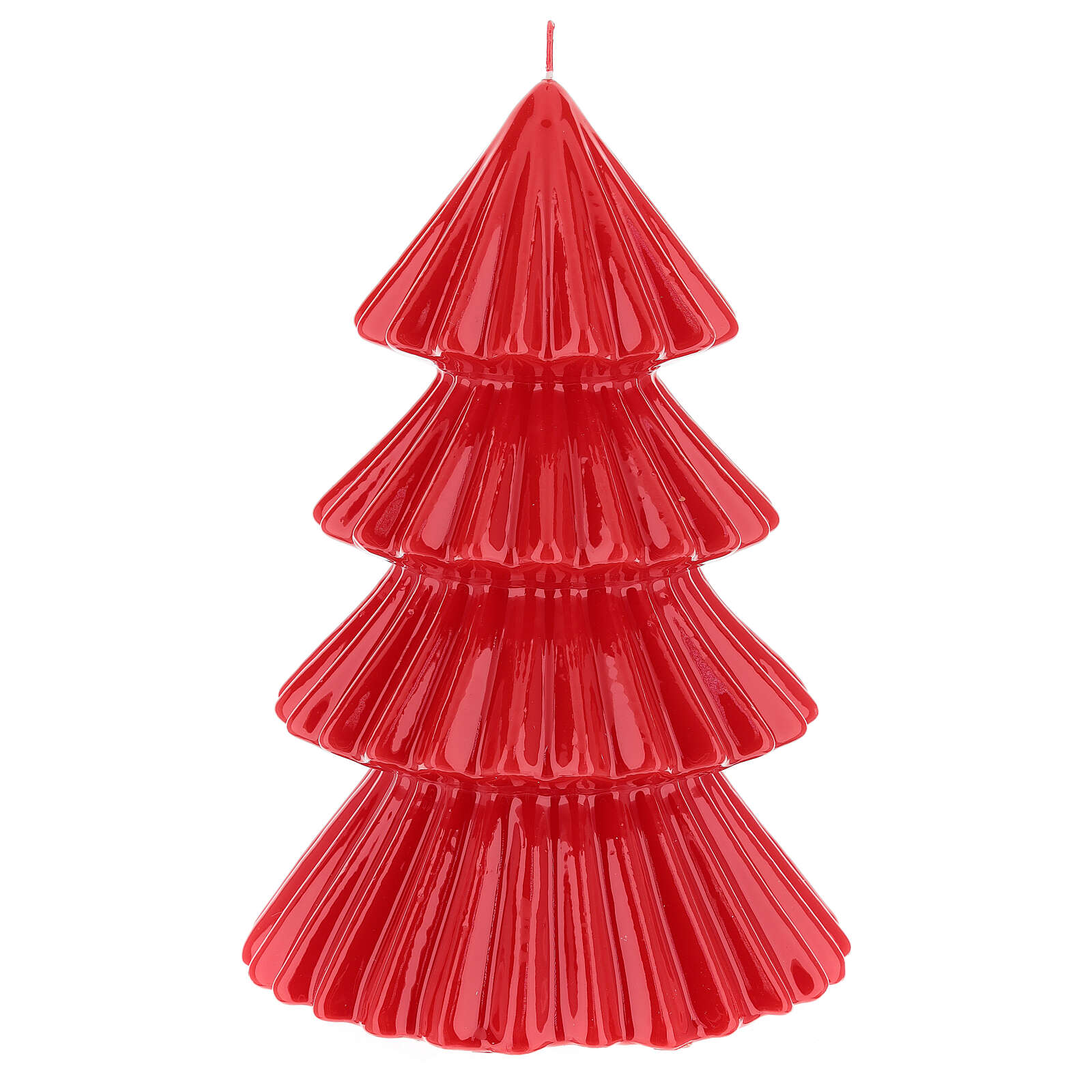 Red Tokyo Christmas candle tree shape 9 in 3