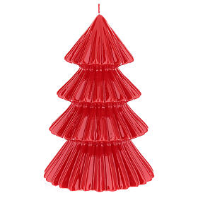 Red Tokyo Christmas candle tree shape 9 in s1