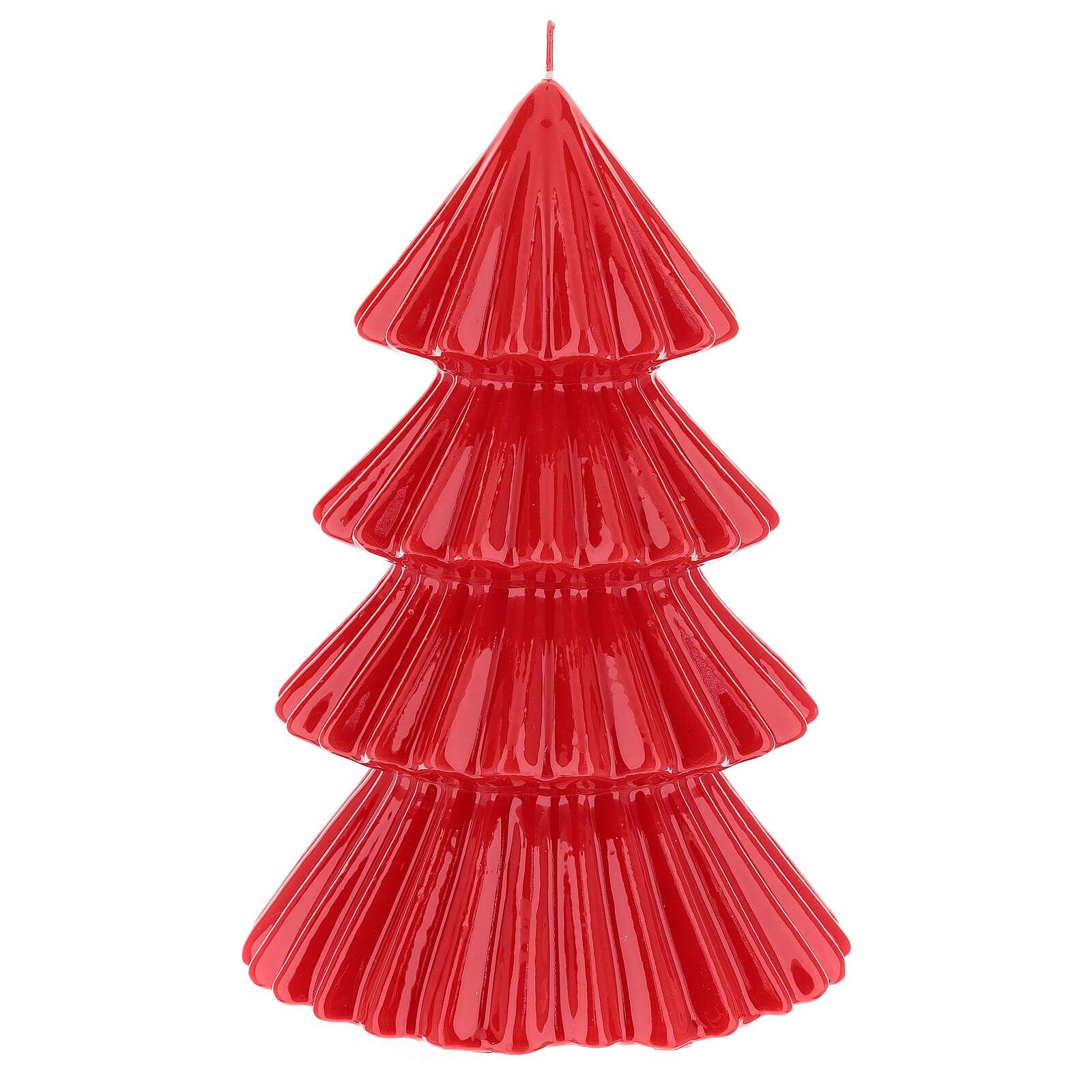 Vela navideña árbol Tokyo rojo 23 cm 3