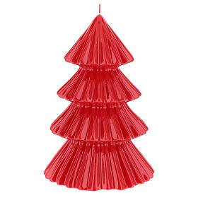 Vela navideña árbol Tokyo rojo 23 cm s2