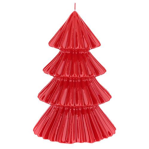 Vela navideña árbol Tokyo rojo 23 cm 2
