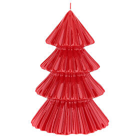 Red Tokyo Christmas candle tree shape 9 in s2