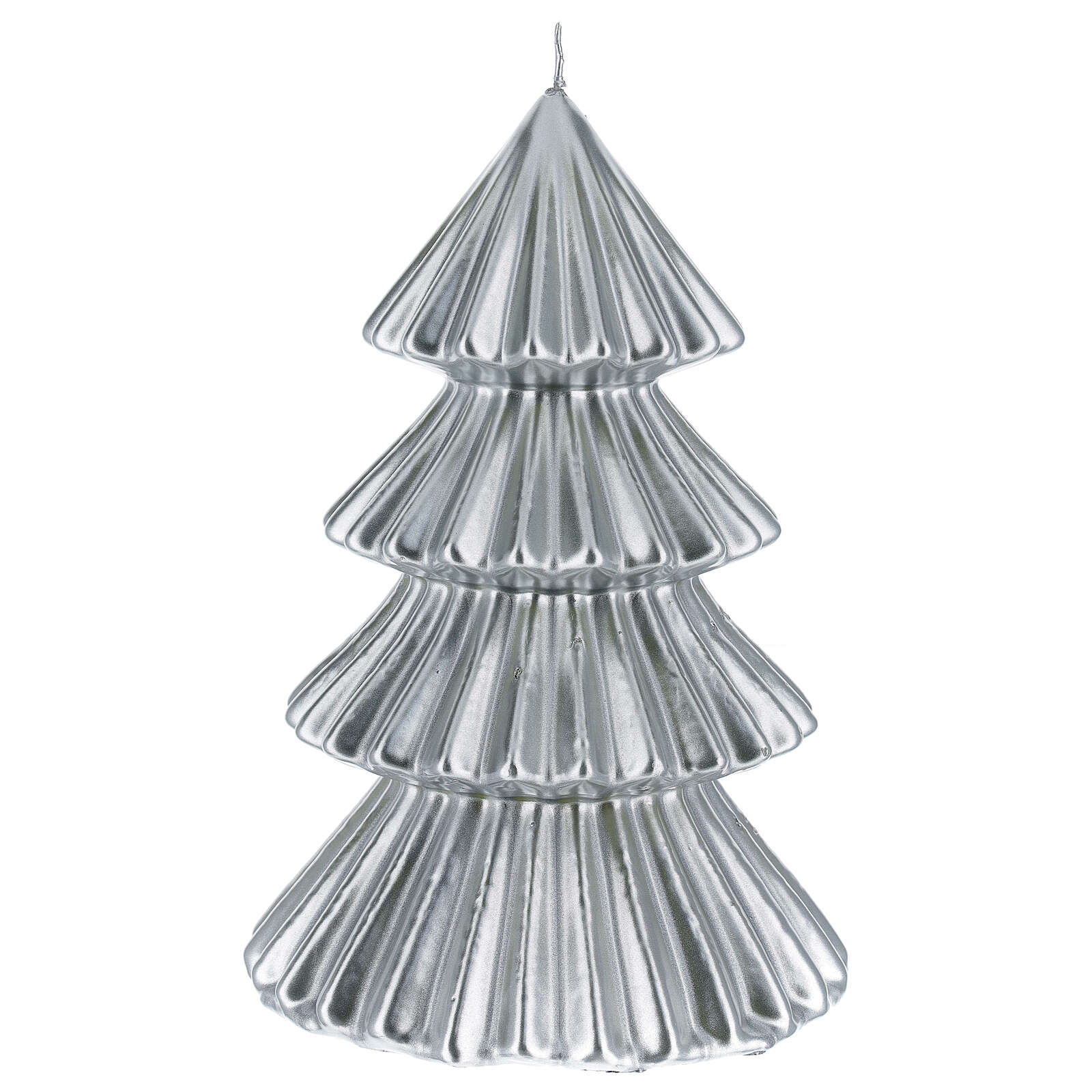 Silver Tokyo Christmas candle tree shape 9 in 3