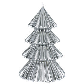 Silver Tokyo Christmas candle tree shape 9 in s1