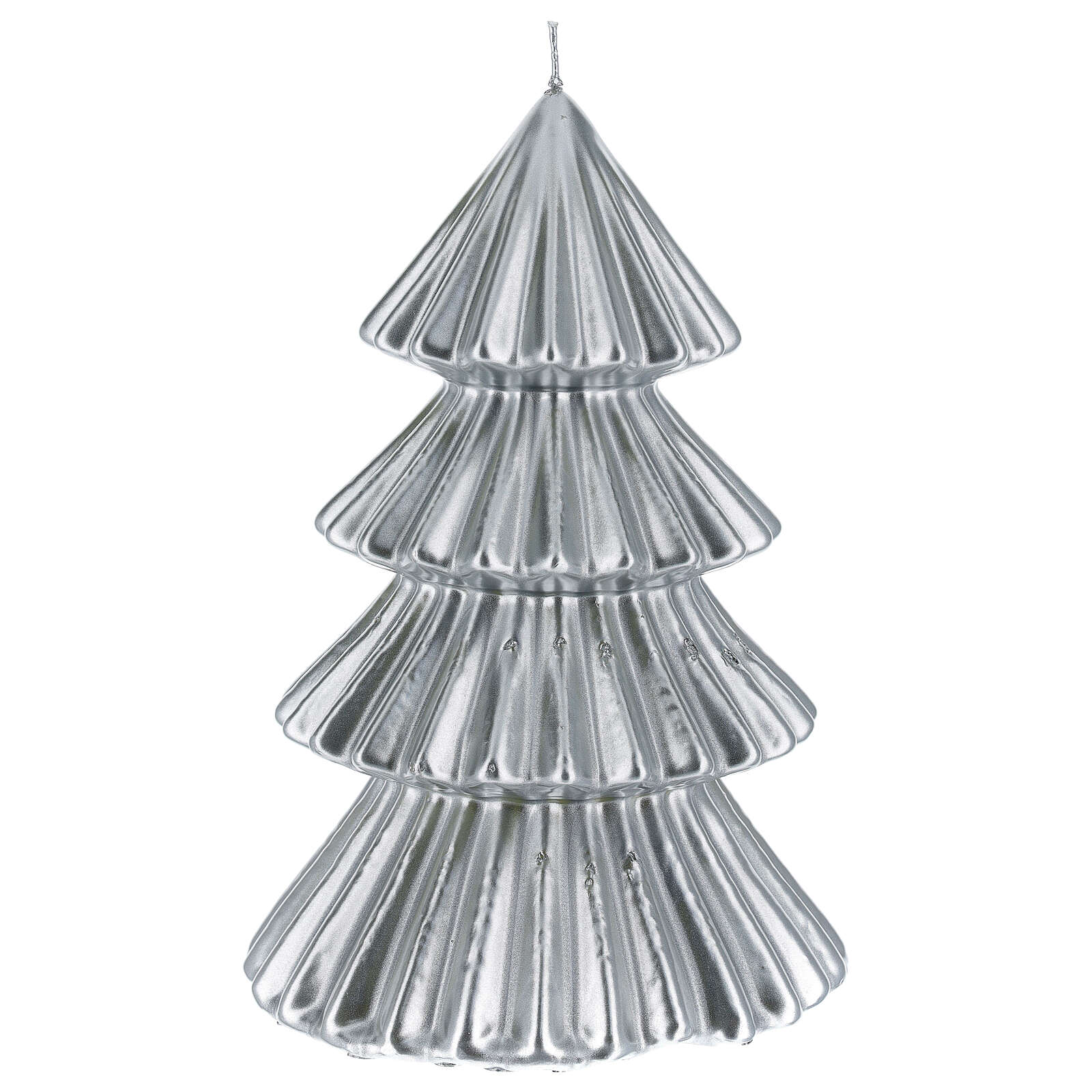 Candela natalizia albero Tokyo argento 23 cm 3