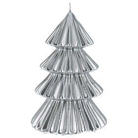 Candela natalizia albero Tokyo argento 23 cm s2