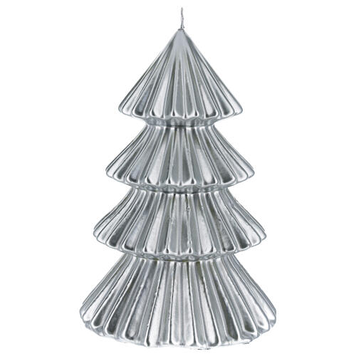 Candela natalizia albero Tokyo argento 23 cm 1