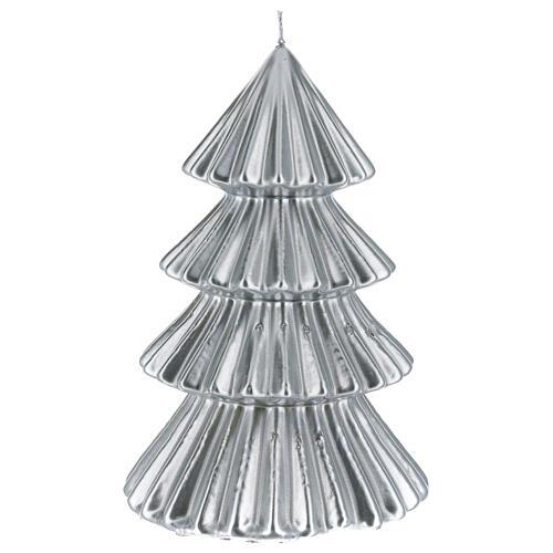 Candela natalizia albero Tokyo argento 23 cm 2