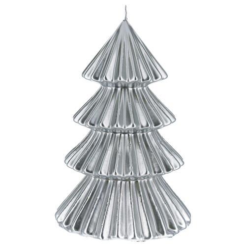 Vela de Natal árvore prateada modelo Tokyo 23 cm 1