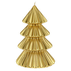 Golden Tokyo Christmas candle tree shape 9 in s2
