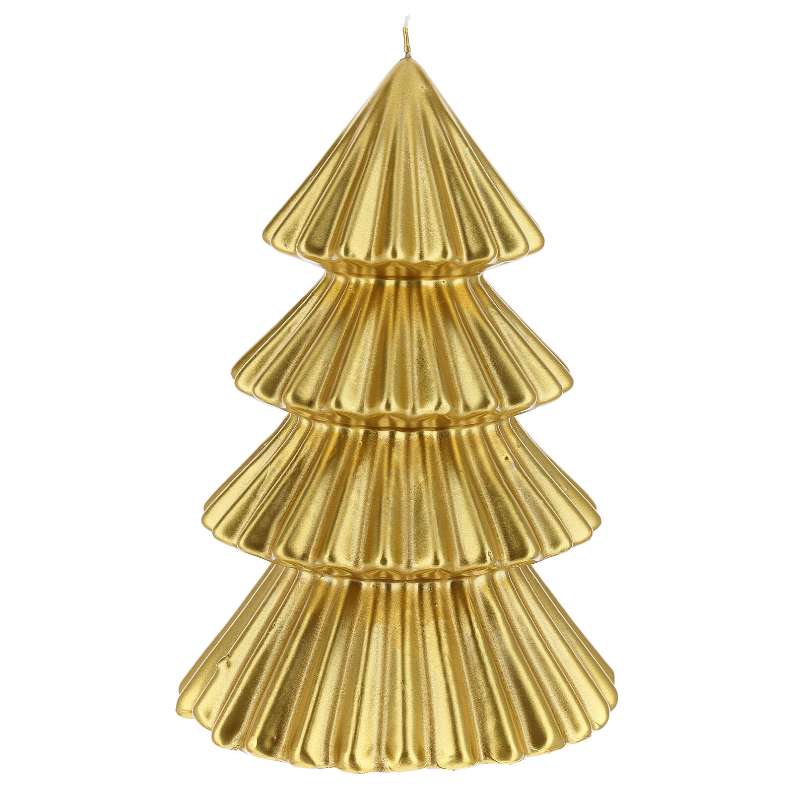 Golden Tokyo Christmas candle tree shape 9 in 3