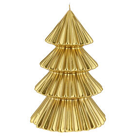 Golden Tokyo Christmas candle tree shape 9 in s1