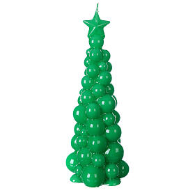 Mosca green Christmas candle 21 cm s1