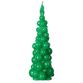 Mosca green Christmas candle 21 cm s3