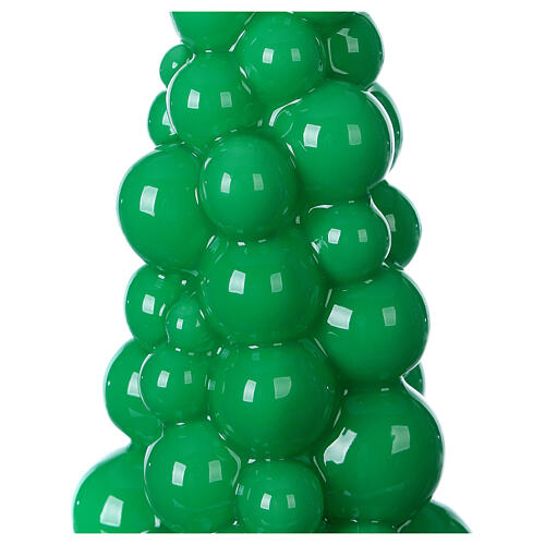Mosca green Christmas candle 21 cm 2