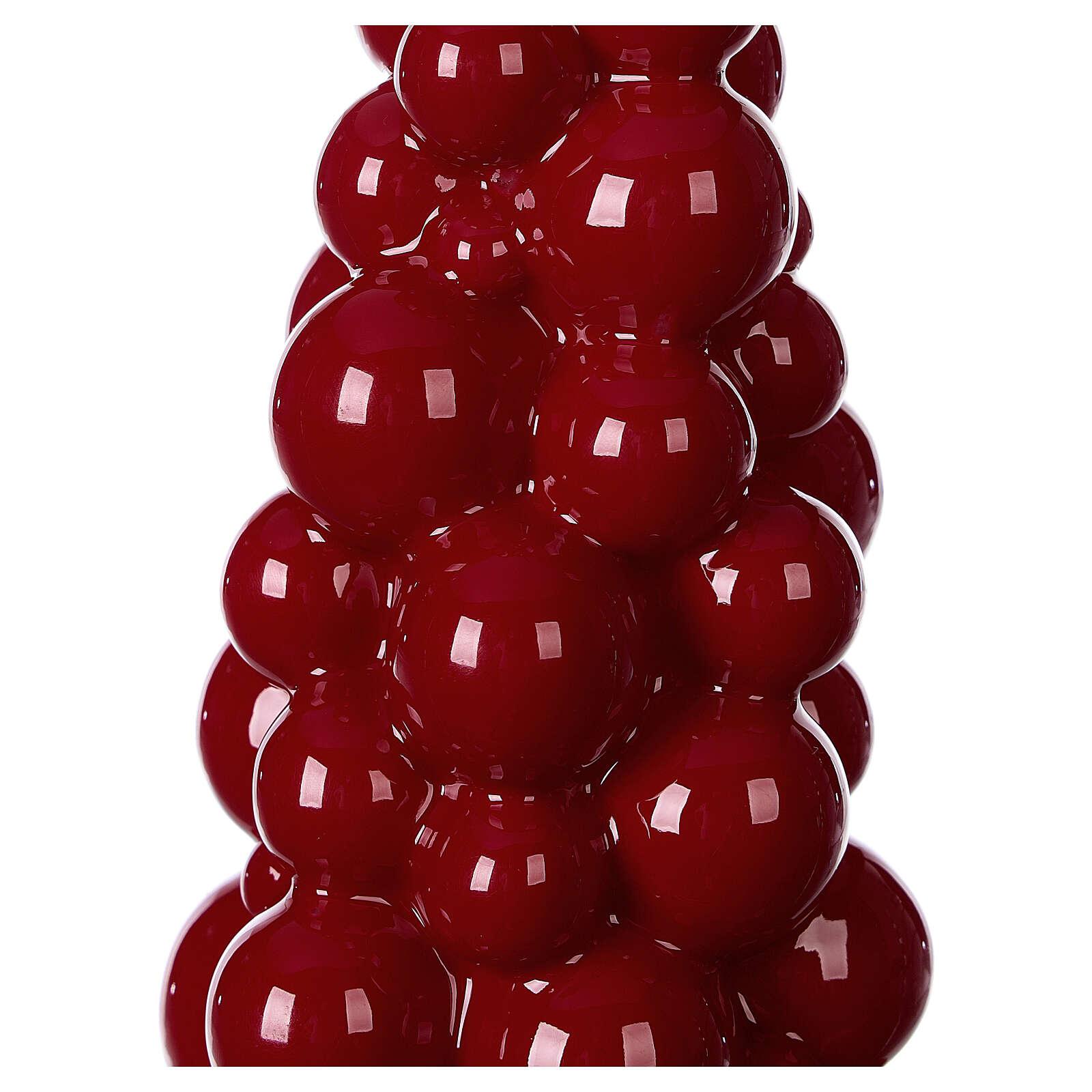Mosca burgundy Christmas candle 21 cm 3