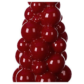 Mosca burgundy Christmas candle 21 cm s2