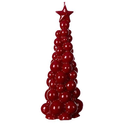 Mosca burgundy Christmas candle 21 cm 1