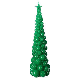 Vela navideña árbol Mosca verde 47 cm s1
