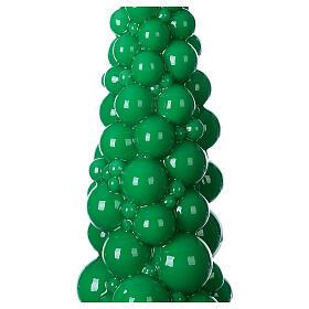 Vela navideña árbol Mosca verde 47 cm s2