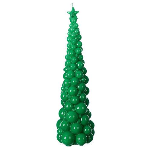 Vela navideña árbol Mosca verde 47 cm 1