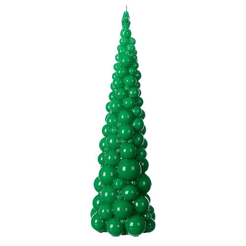 Vela navideña árbol Mosca verde 47 cm 3