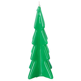 Oslo green Christmas candle 16 cm s1