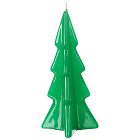 Oslo green Christmas candle 16 cm s2