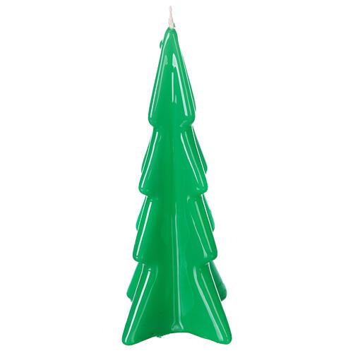 Oslo green Christmas candle 16 cm 1