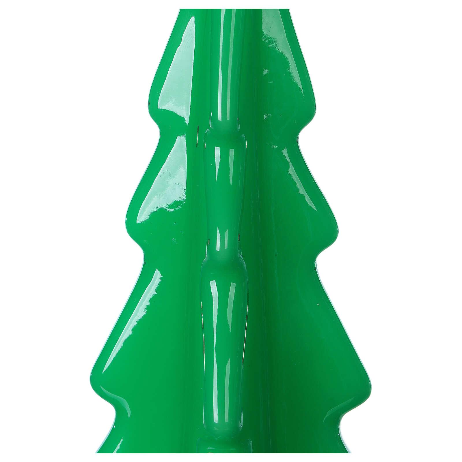 Oslo green Christmas candle 20 cm 3