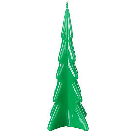 Oslo green Christmas candle 20 cm s1