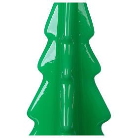 Oslo green Christmas candle 20 cm s2