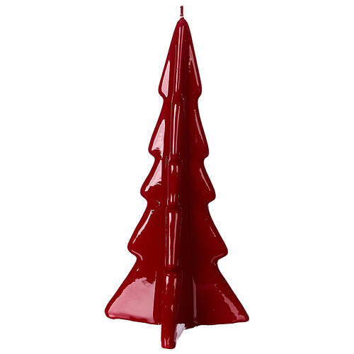 Oslo burgundy Christmas candle 20 cm 3