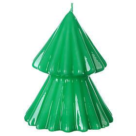 Vela navideña árbol Tokyo verde 12 cm s1