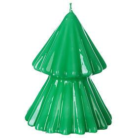Vela navideña árbol Tokyo verde 12 cm s2