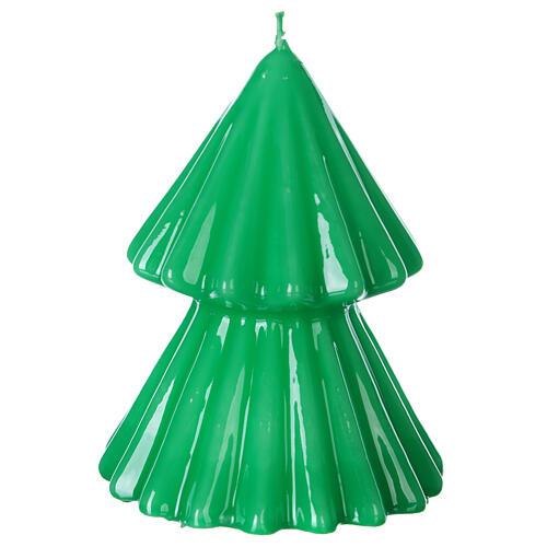 Vela navideña árbol Tokyo verde 12 cm 2