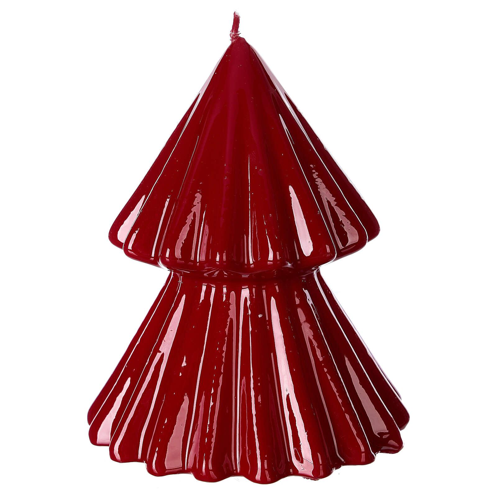 Tokyo burgundy Christmas candle 12 cm 3