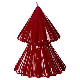 Tokyo burgundy Christmas candle 12 cm s2
