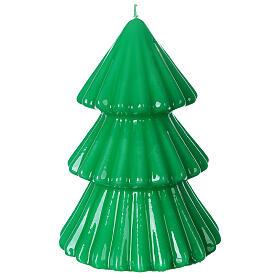 Vela navideña árbol Tokyo verde 17 cm s1