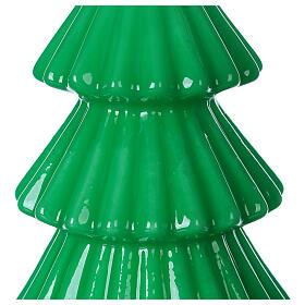 Vela navideña árbol Tokyo verde 17 cm s2