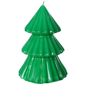 Vela navideña árbol Tokyo verde 17 cm s3