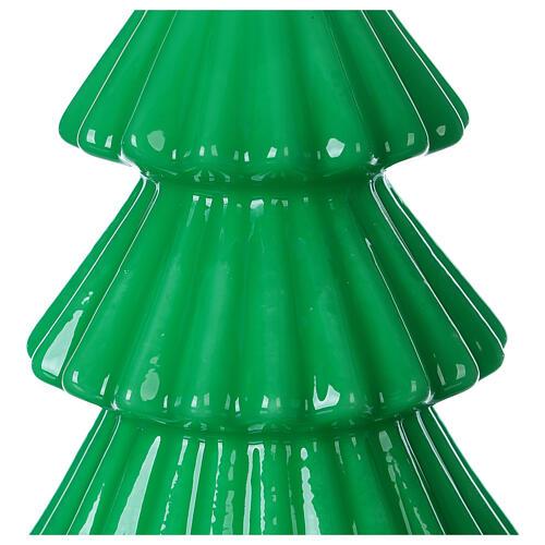 Vela navideña árbol Tokyo verde 17 cm 2