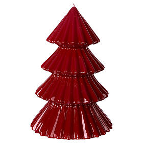 Vela navideña árbol Tokyo burdeos 23 cm s1
